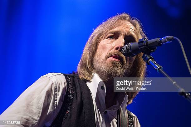 Tom Petty performs at Le Grand Rex on June 27 2012 in Paris France