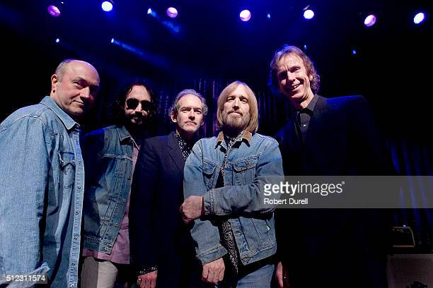Tom Petty Randall Marsh Mike Campbell Benmont Tench of 'Mudcrutch' are photographed for Los Angeles Times on April 16 2008 in San Francisco...