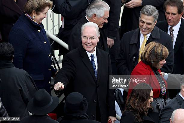 Tom Price Trump's pick to be HHS Secretary arrives at the US Capitol on January 20 2017 in Washington DC In today's inauguration ceremony Donald J...