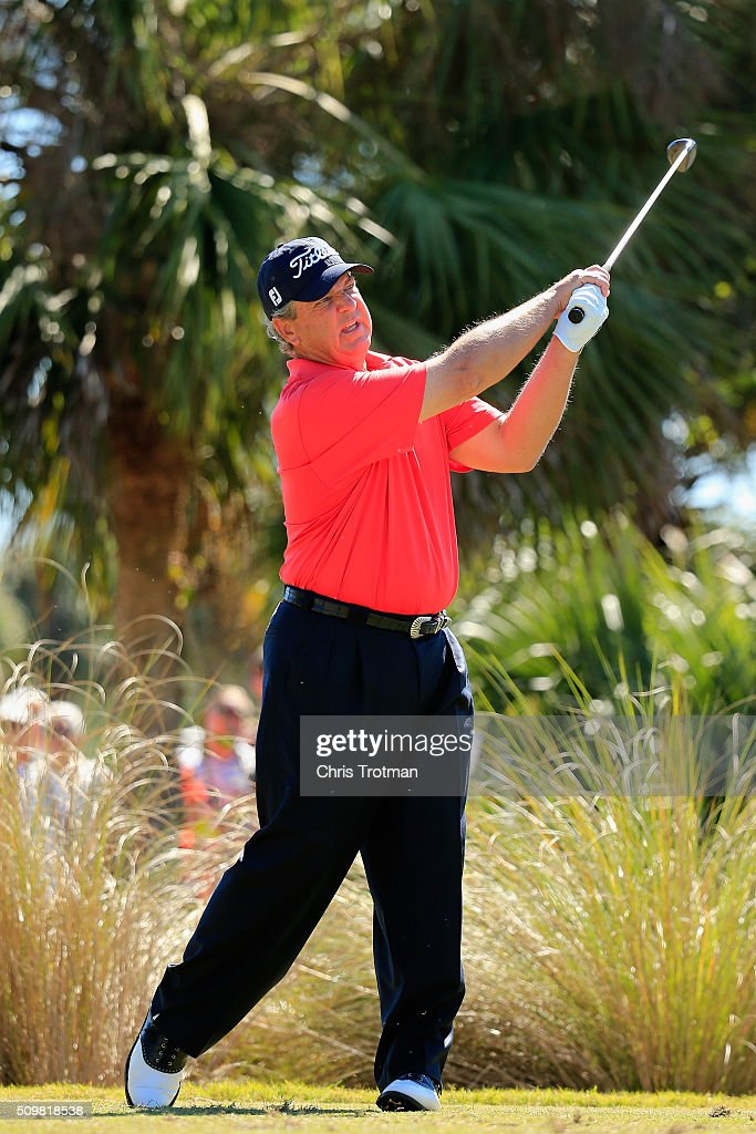 <a gi-track='captionPersonalityLinkClicked' href=/galleries/search?phrase=Tom+Purtzer&family=editorial&specificpeople=587886 ng-click='$event.stopPropagation()'>Tom Purtzer</a> hits a tee shot on the second hole during the first round of the 2016 Chubb Classic at the TwinEagles Club on February 12, 2016 in Naples, Florida.