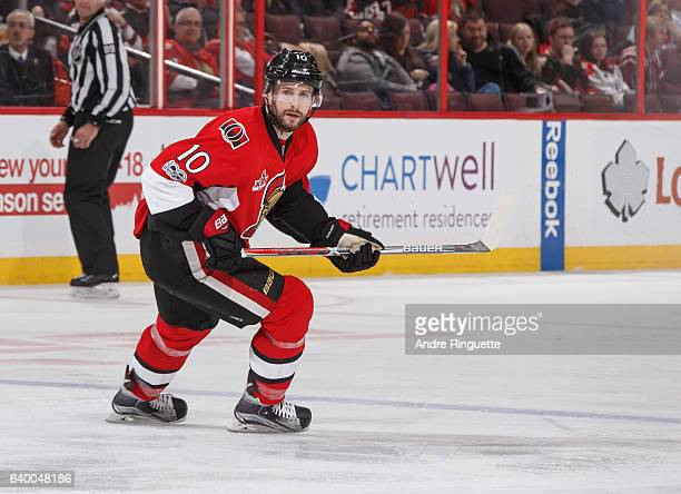 Tom Pyatt of the Ottawa Senators skates against the Washington Capitals at Canadian Tire Centre on January 24 2017 in Ottawa Ontario Canada