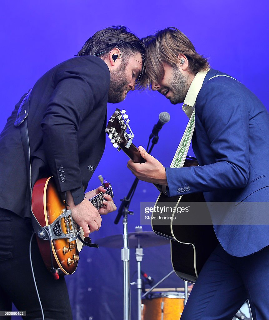 Tom Renaud and Ben Schneider of Lord Huron perform on Day 2 of Outside Lands Music and Arts Festival at Golden Gate Park on August 6 2016 in San...