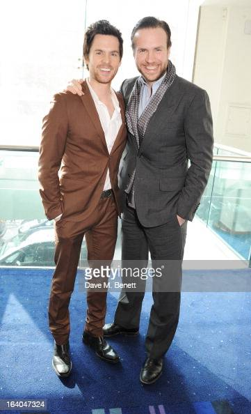 Tom Riley and Rafe Spall attend the First Light Awards at Odeon Leicester Square on March 19 2013 in London England