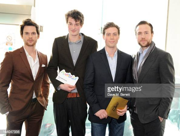 Tom Riley Digital Innovation Award winners Gulliver Moore and Matt Cotton and Rafe Spall attend the First Light Awards at Odeon Leicester Square on...