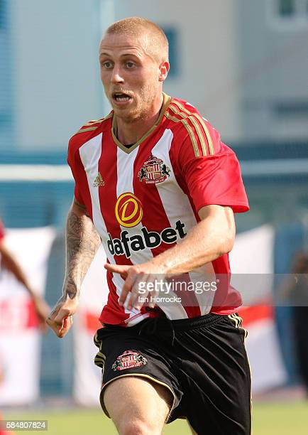 Tom Robson of Sunderland during the preseason friendly match between Sunderland AFC and Montpellier HSC at Stade Jacques Forestier on July 30 2016 in...