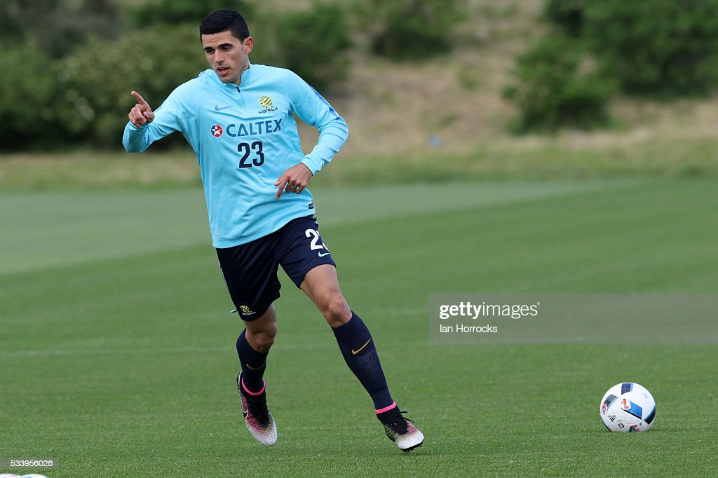 Tom Rogic during a Australia National football team training session at The Academy of Light on May 24, 2016 in Sunderland, England.