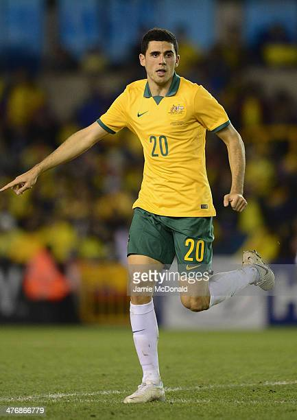 Tom Rogic of Australia in action during the International Friendly match between Australia and Ecuador at The Den on March 5 2014 in London England