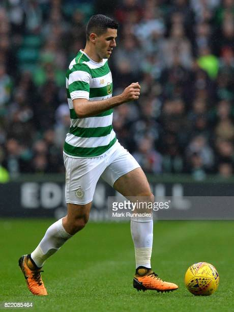 Tom Rogic of Celtic in action during the UEFA Champions League Qualifying Second Round Second Leg match between Celtic and Linfield at Celtic Park...