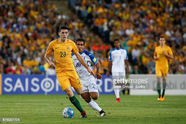 Tom Rogic of the Australia dribbles the ball during the 2nd leg of the 2018 FIFA World Cup Qualifier between the Australia and Honduras at Stadium...