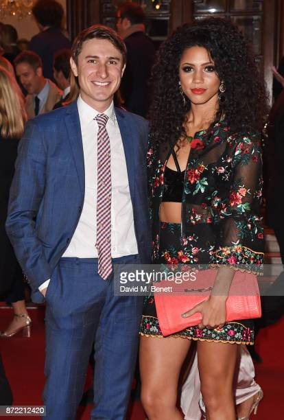 Tom Rosenthal and Vick Hope attend the ITV Gala held at the London Palladium on November 9 2017 in London England