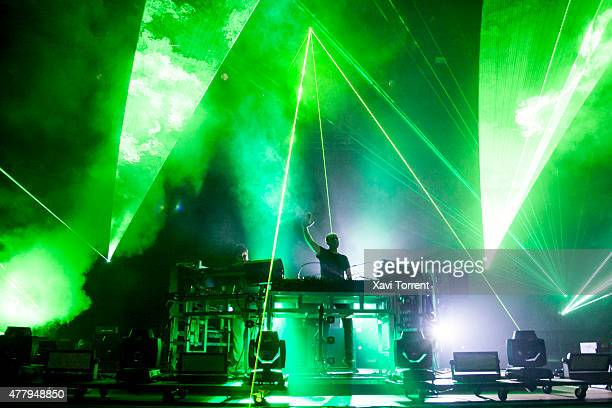 Tom Rowlands of Chemical Brothers performs on stage during day 3 of Sonar Music Festival on June 20 2015 in Barcelona Spain