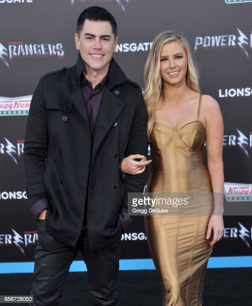 Tom Sandoval and Ariana Madix arrive at the premiere of Lionsgate's 'Power Rangers' at The Village Theatre on March 22 2017 in Westwood California