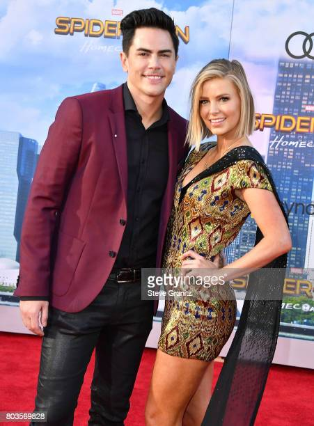 Tom Sandoval and Ariana Madix arrives at the Premiere Of Columbia Pictures' 'SpiderMan Homecoming' at TCL Chinese Theatre on June 28 2017 in...
