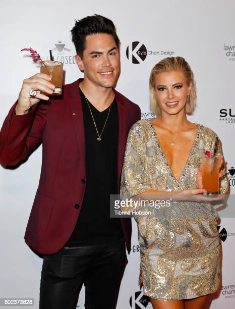 Tom Sandoval and Ariana Madix attend Kyle Chan's 3rd annual #LOVECAMPAIGN Party at SUR Lounge on June 27 2017 in Los Angeles California