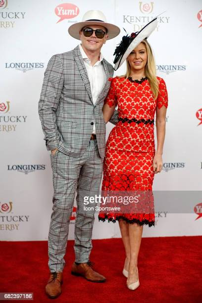 Tom Sandoval and Ariana Madix attend the 143rd Kentucky Derby at Churchill Downs on May 6 2017 in Louisville Kentucky