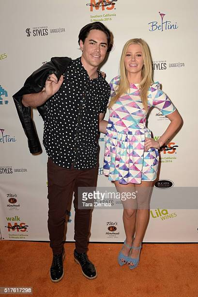 Tom Sandoval and Ariana Madix attend the 3rd Annual LA's Walk MS Celebrity Kickoff Event at Bugatta Supper Club on March 25 2016 in Los Angeles...