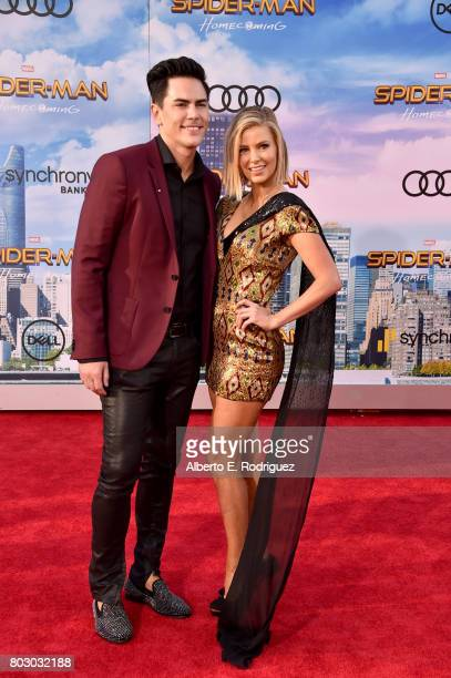 Tom Sandoval and Ariana Madix attend the premiere of Columbia Pictures' 'SpiderMan Homecoming' at TCL Chinese Theatre on June 28 2017 in Hollywood...
