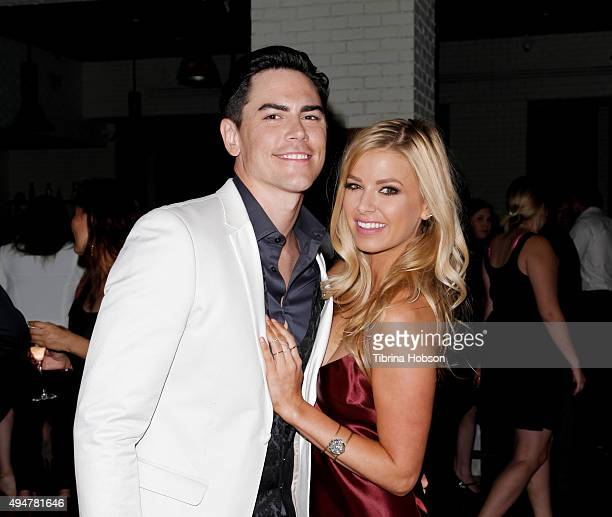 Tom Sandoval and Ariana Madix attend the 'Vanderpump Rules' premiere party at The Church Key on October 28 2015 in West Hollywood California