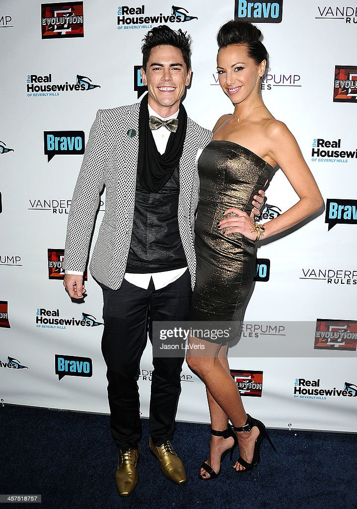 Tom Sandoval and Kristen Doute attend the 'The Real Housewives of Beverly Hills' and 'Vanderpump Rules' premiere party at Boulevard3 on October 23...