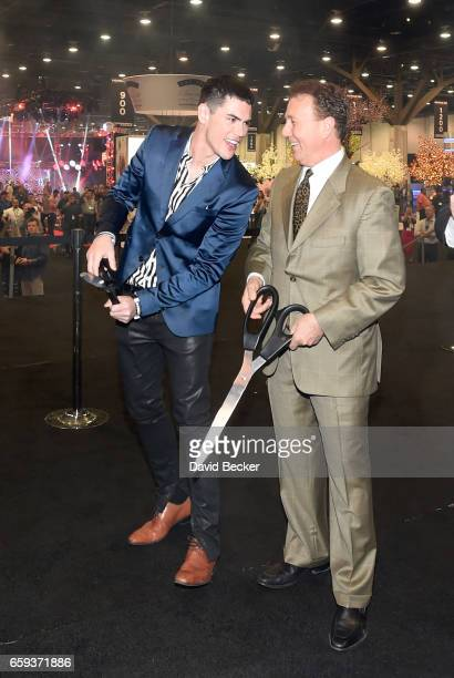 Tom Sandoval and Thom Greco cut the ribbon on day two of the 32nd annual Nightclub Bar Convention and Trade Show on March 28 2017 in Las Vegas Nevada
