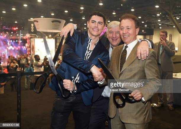 Tom Sandoval CEO of Questex and NBC Show's Kerry Gumas and Chairman of the NBC Show Advisory Board Thom Greco cut the ribbon on day two of the 32nd...