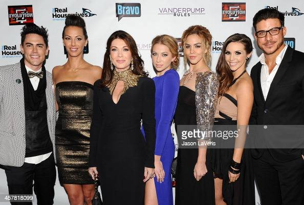 Tom Sandoval Kristen Doute Lisa Vanderpump Stassi Schroeder Katie Maloney Scheana Marie and Jax Taylor attend the 'The Real Housewives of Beverly...