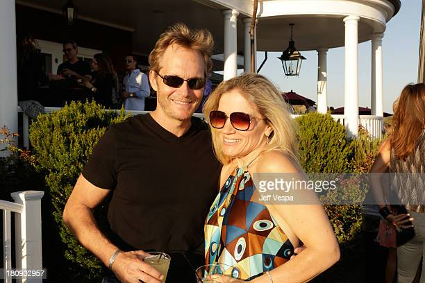 Tom Schanley and Lisa Jey Davis attend Eddie Vedder and Zach Galifianakis Rock Malibu Fundraiser for EBMRF and Heal EB on September 15 2013 in Malibu...