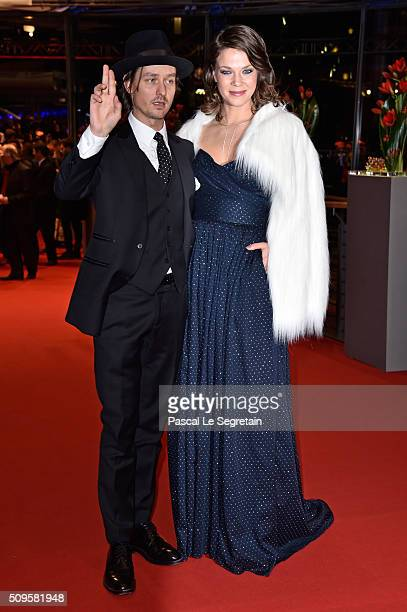 Tom Schilling and Jessica Schwarz attend the 'Hail Caesar' premiere during the 66th Berlinale International Film Festival Berlin at Berlinale Palace...