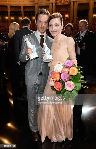 Tom Schilling and Katharina Schuettler attends the 'Bayerischer Fernsehpreis 2013' at Prinzregententheater on May 17 2013 in Munich Germany