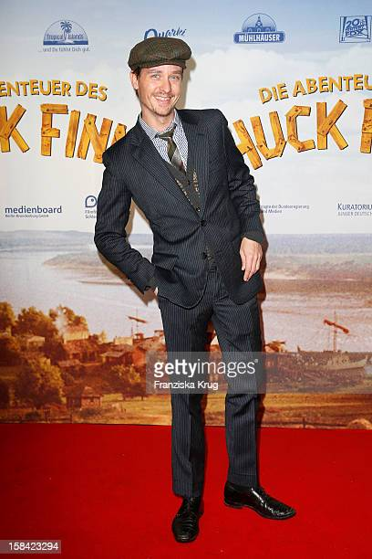 Tom Schilling attends 'Die Abenteuer des Huck Finn' Germany Premiere on December 16 2012 in Berlin Germany