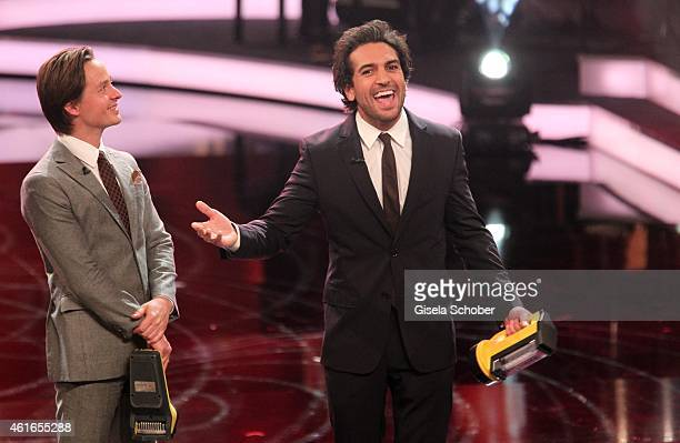 Tom Schilling Elyas M'Barek during the Bavarian Film Award 2015 on January 16 2015 in Munich Germany