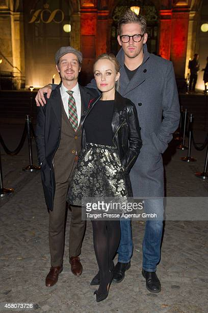 Tom Schilling Frederike Kempter and JanOle Gerster attend the 10th anniversary celebration of the Zoo Magazine at Naturkundemuseum on October 29 2014...