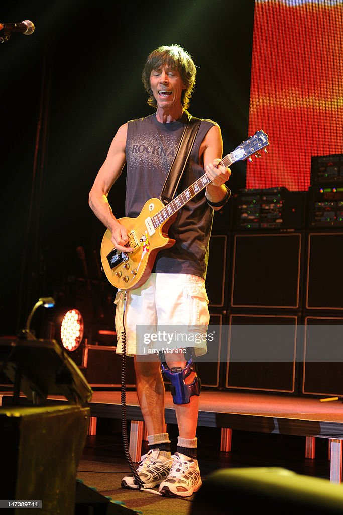 Tom Scholz of Boston performs on opening night of their US tour at Hard Rock Live! in the Seminole Hard Rock Hotel & Casino on June 28, 2012 in Hollywood, Florida.
