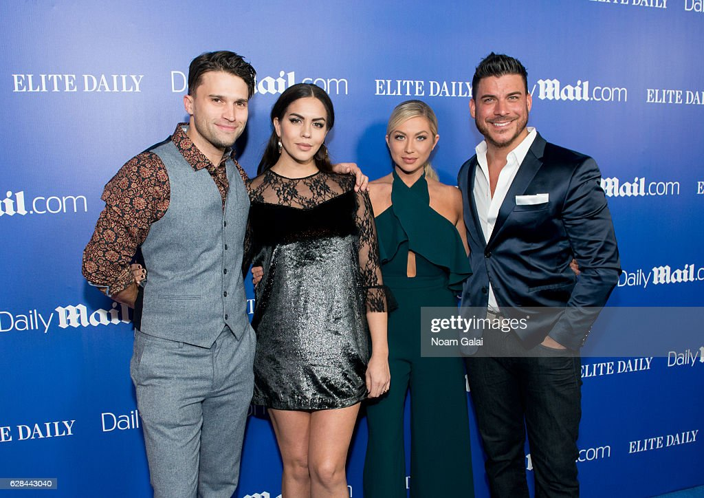 Tom Schwartz, Katie Maloney-Schwartz, Stassi Schroeder and Jax Taylor attend the DailyMail.com and Elite Daily holiday party at Vandal on December 7, 2016 in New York City.