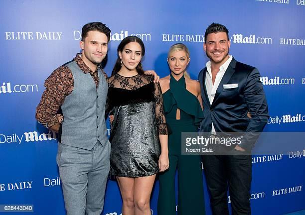 Tom Schwartz Katie MaloneySchwartz Stassi Schroeder and Jax Taylor attend the DailyMailcom and Elite Daily holiday party at Vandal on December 7 2016...