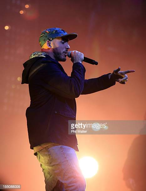 Tom Scott of Homebrew performs during the 2012 Vodafone New Zealand Music Awards at Vector Arena on November 1 2012 in Auckland New Zealand