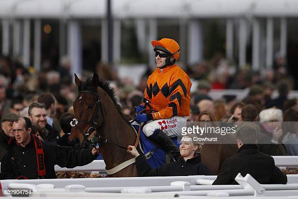 Tom Scudamore and Thistlecrack at Cheltenham Racecourse on January 28 2017 in Cheltenham England