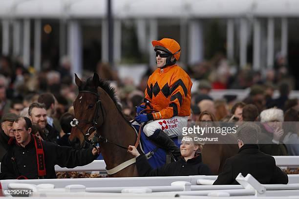 Tom Scudamore and Thistlecrack at Cheltenham Racecourse on January 28 2017 in Cheltenham England