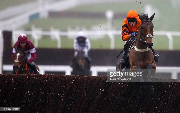 Tom Scudamore riding Thistlecrack clear the last to win The mallardjewellerscom Novices' Steeple Chase at Cheltenham Racecourse on November 12 2016...
