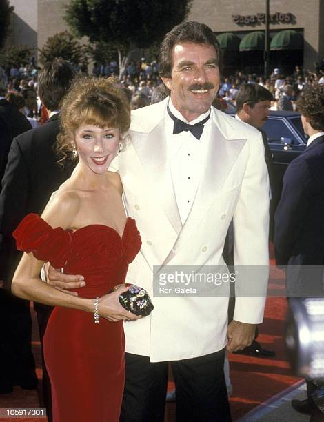 Tom Selleck and Jillie Mack during 38th Annual Primetime Emmy Awards at Pasadena Civic Auditorium in Pasadena California United States