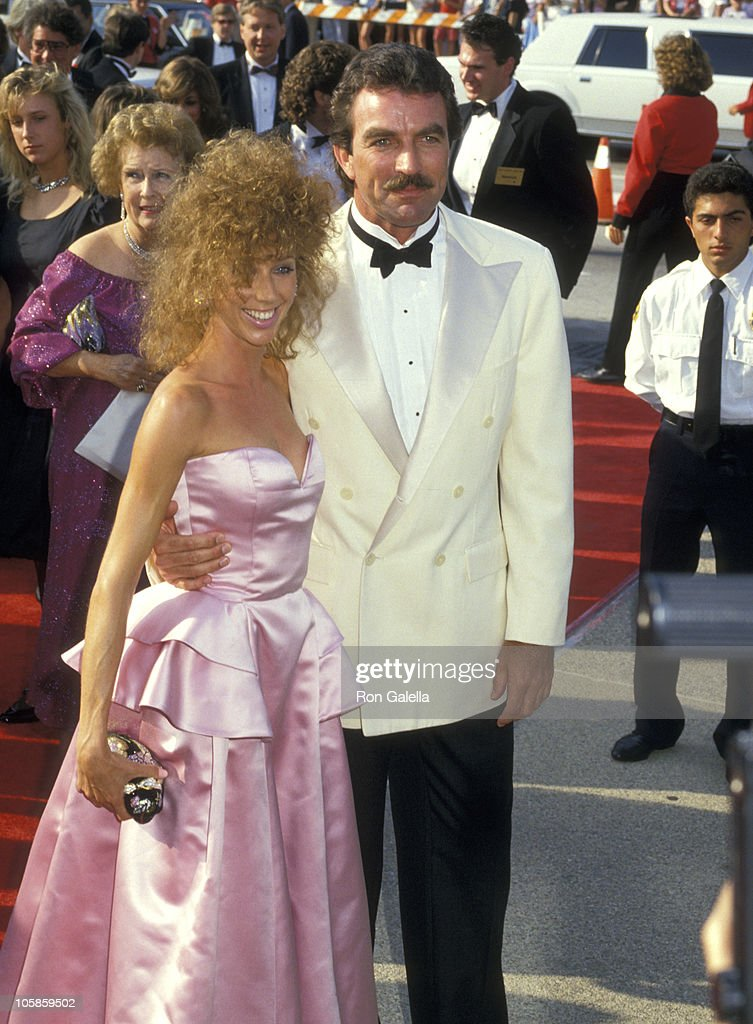 Tom selleck and jillie mack during 39th annual emmy awards september