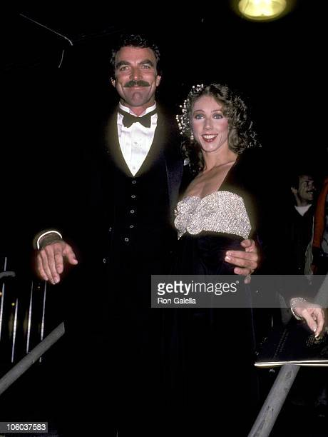 Tom Selleck and Jillie Mack during Inaugural Tribute to President Ronald Reagan Nancy Reagan January 19 1985 at Washington Convention Center in...