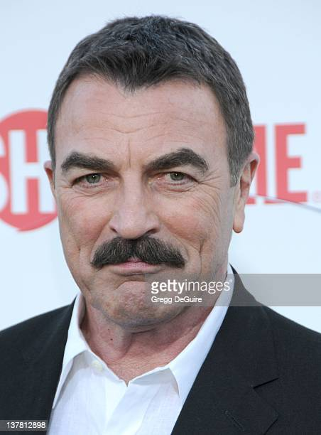 Tom Selleck arrives at the CBS The CW Showtime Summer Press Tour Party held at The Tent on July 28 2010 in Beverly Hills California