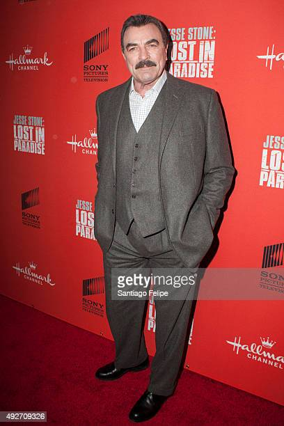 Tom Selleck attends 'Jess Stone Lost In Paradise' New York Premiere at Roxy Hotel on October 14 2015 in New York City
