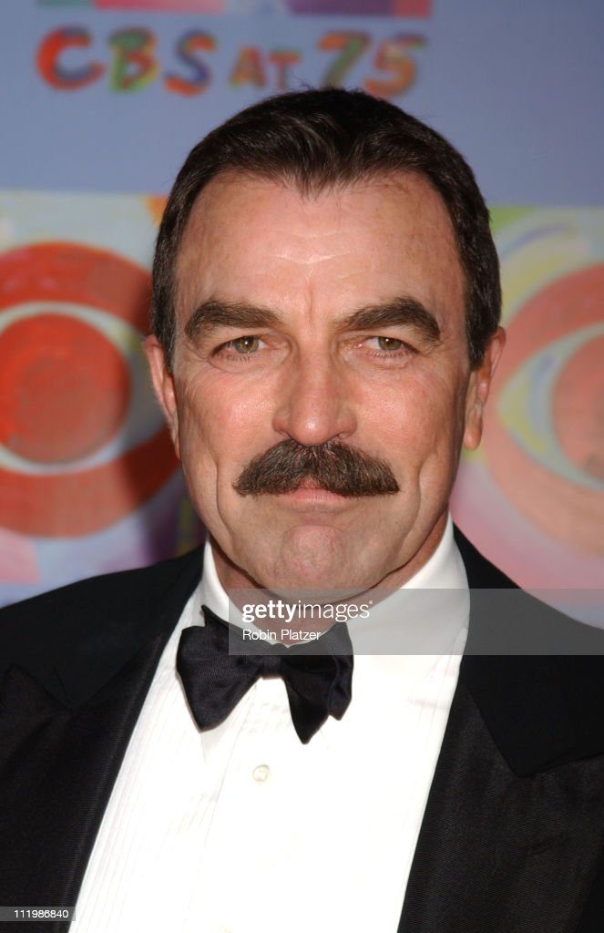 <a gi-track='captionPersonalityLinkClicked' href=/galleries/search?phrase=Tom+Selleck&family=editorial&specificpeople=208627 ng-click='$event.stopPropagation()'>Tom Selleck</a> during CBS at 75 - Commemorating CBS'S 75th Anniversary - Arrivals at The Hammerstein Theater in New York City, New York, United States.