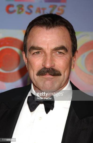 Tom Selleck during CBS at 75 Commemorating CBS'S 75th Anniversary Arrivals at The Hammerstein Theater in New York City New York United States