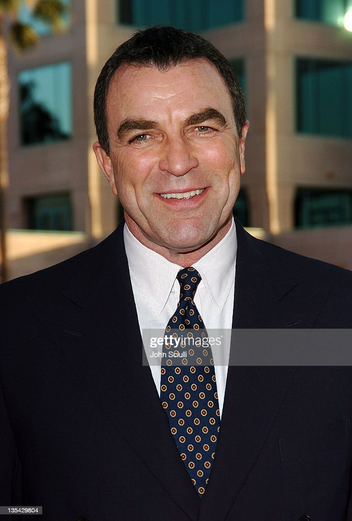 <a gi-track='captionPersonalityLinkClicked' href=/galleries/search?phrase=Tom+Selleck&family=editorial&specificpeople=208627 ng-click='$event.stopPropagation()'>Tom Selleck</a> during 'Ike: Countdown to D-Day' Premiere at Leonard H. Goldenson Theatre in North Hollywood, California, United States.