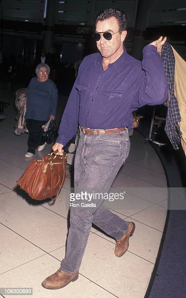 Tom Selleck during Tom Selleck at Los Angeles International Airport at Los Angeles International Airport in Los Angeles California United States