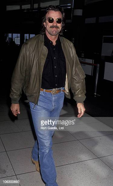 Tom Selleck during Tom Selleck Sighted at Los Angeles International Airport at Los Angeles International Airport in Los Angeles California United...