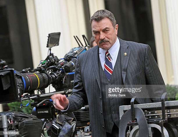 Tom Selleck filming on location for 'Blue Bloods' on the streets of Manhattan on October 28 2010 in New York City
